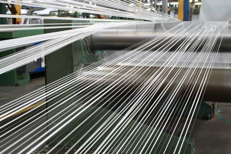 linje som gör polypropylenebandet royaltyfri fotografi