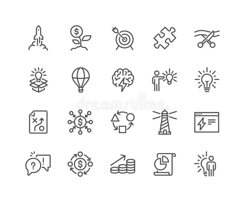 Linje startsymboler vektor illustrationer