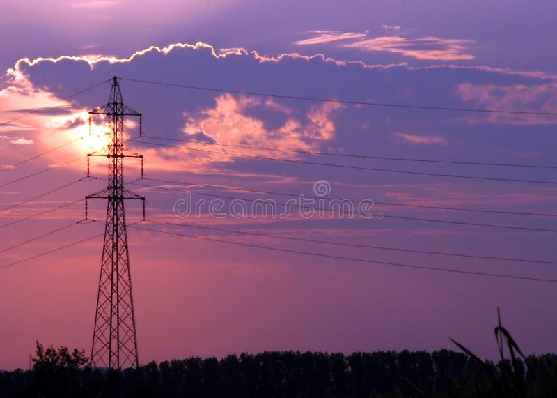 linje strömsilhouette arkivfoto