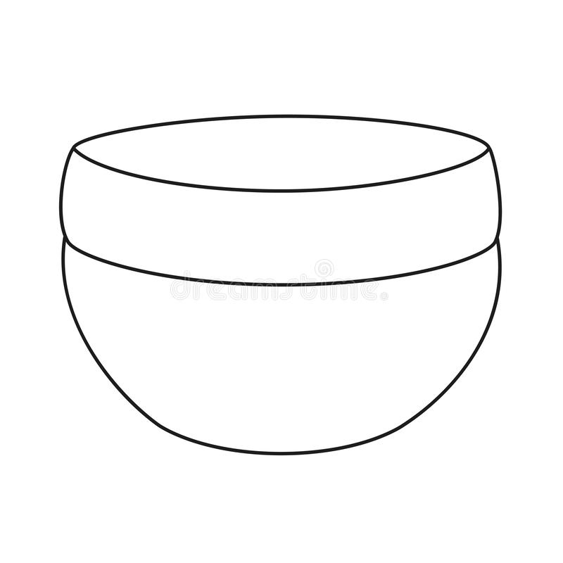 Linje svartvit skincarekräm för konst stock illustrationer