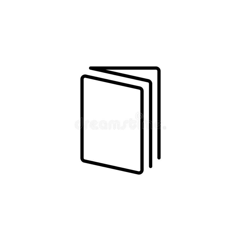 Linje symbol öppen bok royaltyfri illustrationer