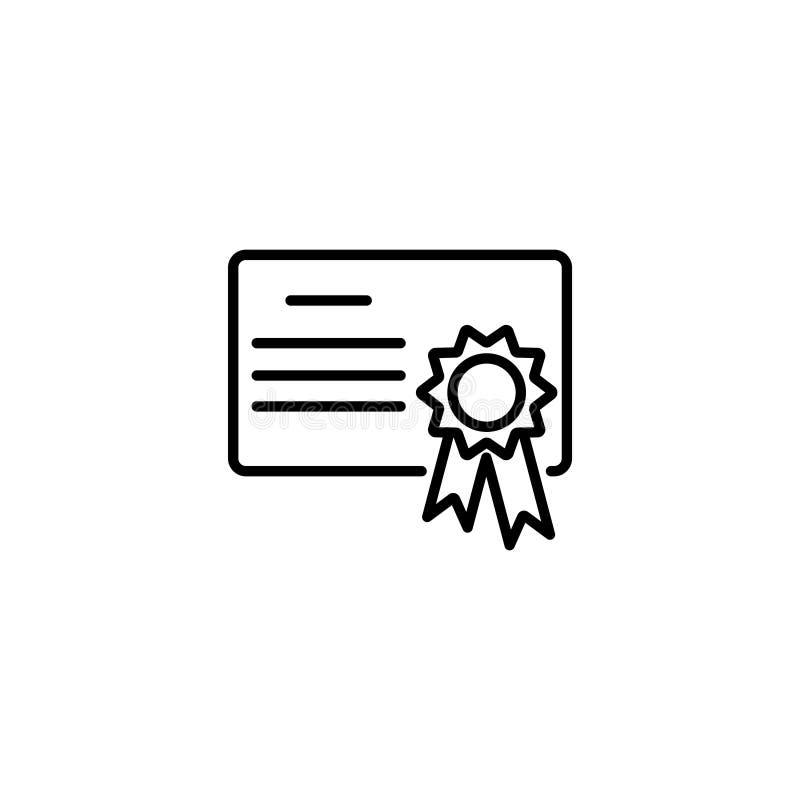 Linje symbol Charter certifikat royaltyfri illustrationer