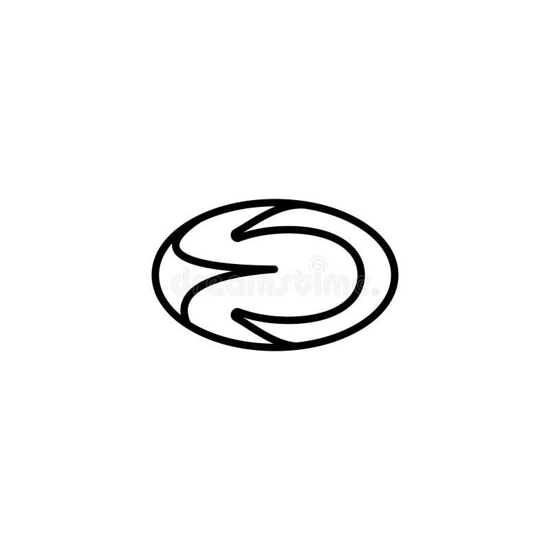 Linje symbol 3D framför illustrationen vektor illustrationer