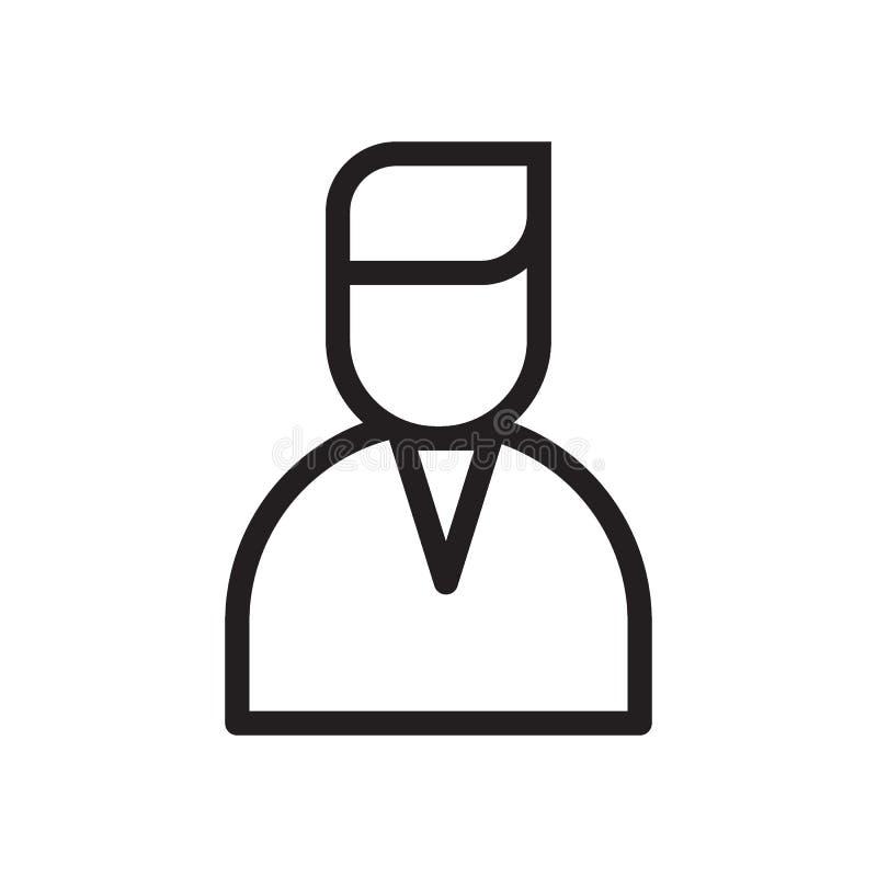 Linje symbol för användareprofil royaltyfri illustrationer