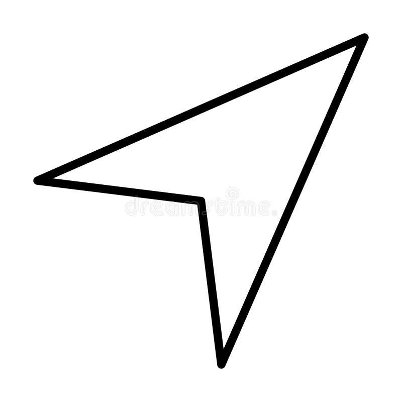 Linje symbol för Gps-navigeringpil också vektor för coreldrawillustration stock illustrationer