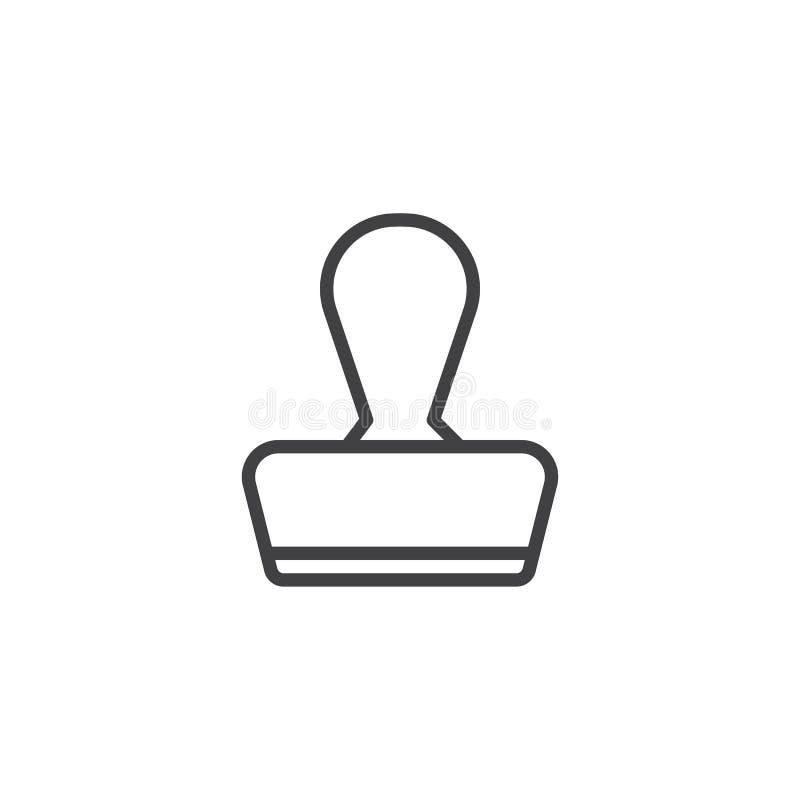 Linje symbol för gummistämpel royaltyfri illustrationer