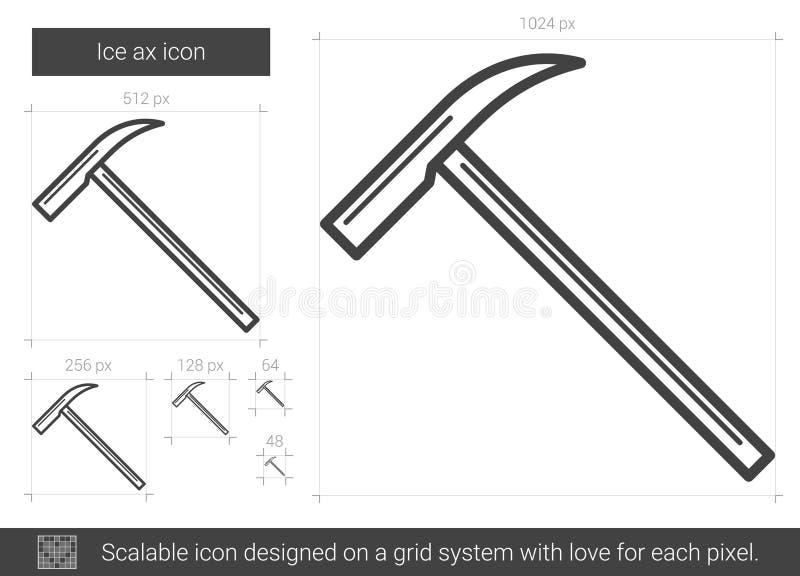 Linje symbol för isyxa vektor illustrationer
