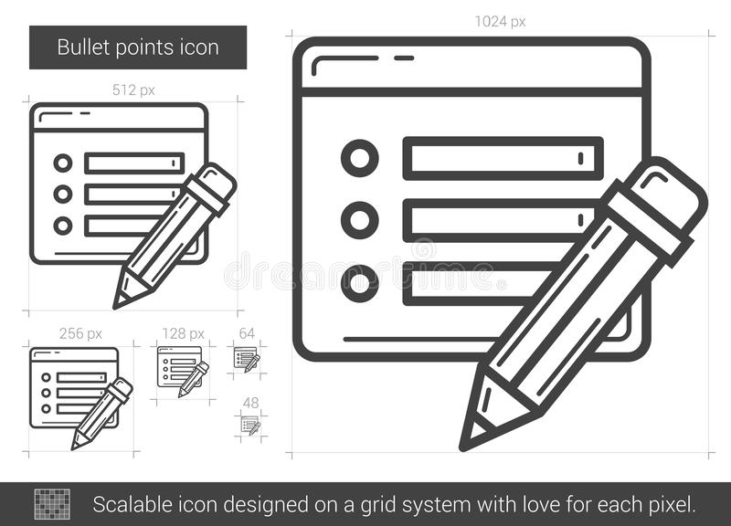 Linje symbol för kulpunkter vektor illustrationer