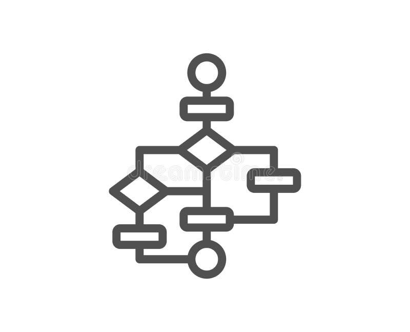 Linje symbol för kvarterdiagram Banaintrigtecken vektor stock illustrationer
