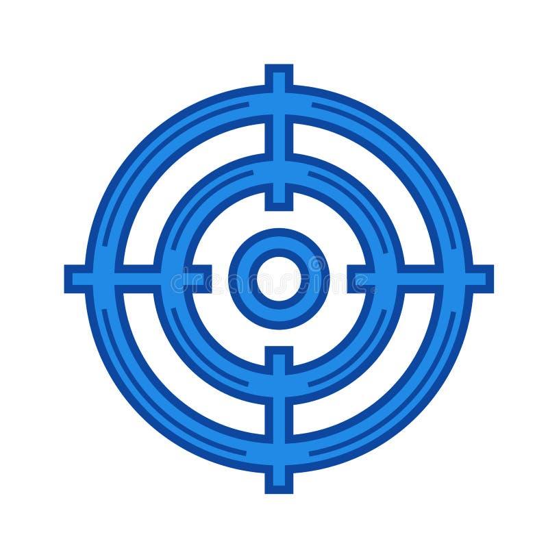 Linje symbol för målåhörare vektor illustrationer