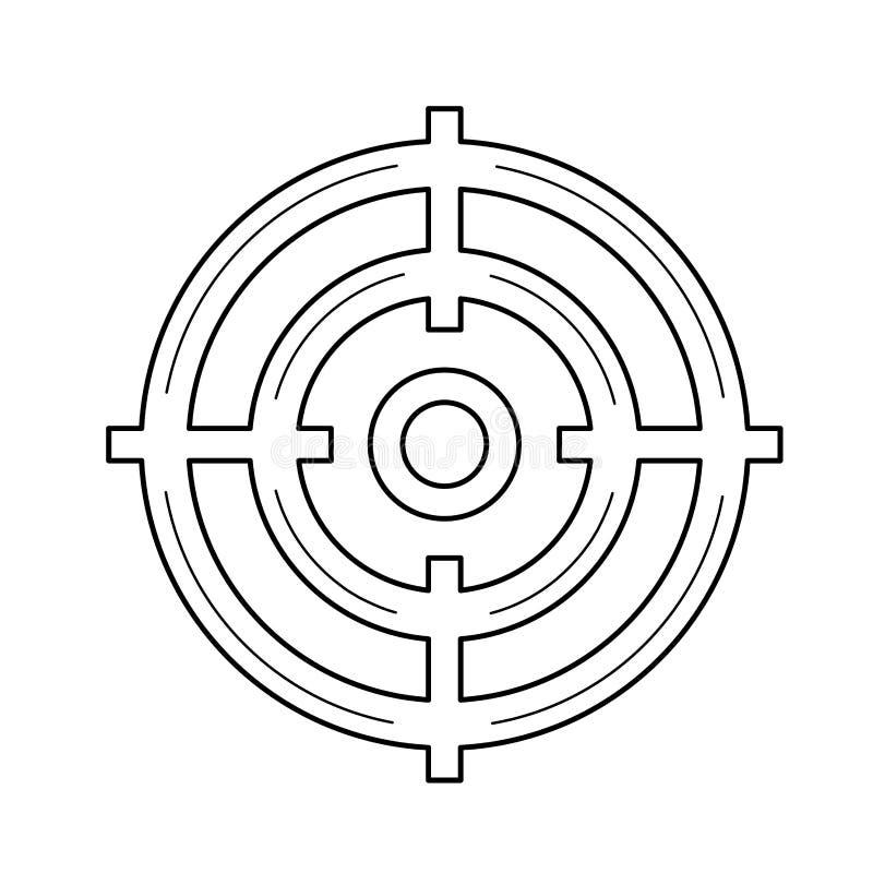 Linje symbol för målåhörare royaltyfri illustrationer