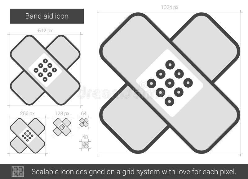 Linje symbol för musikbandhjälpmedel stock illustrationer