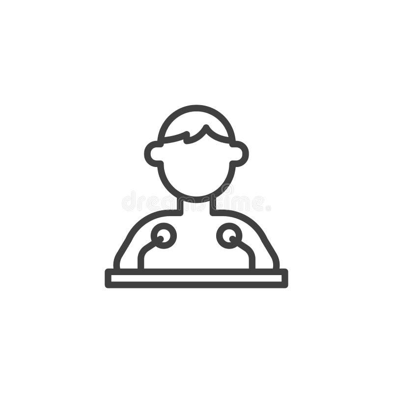 Linje symbol för offentlig högtalare stock illustrationer