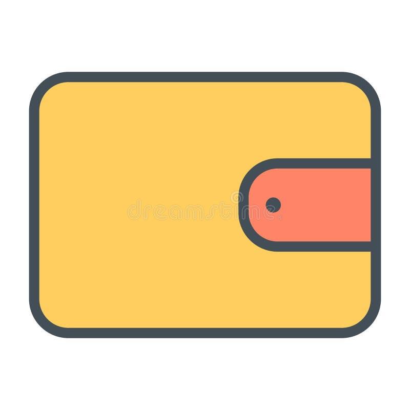 Linje symbol 48x48 för perfekt vektor för plånbokPIXEL tunn Enkel minsta Pictogram stock illustrationer