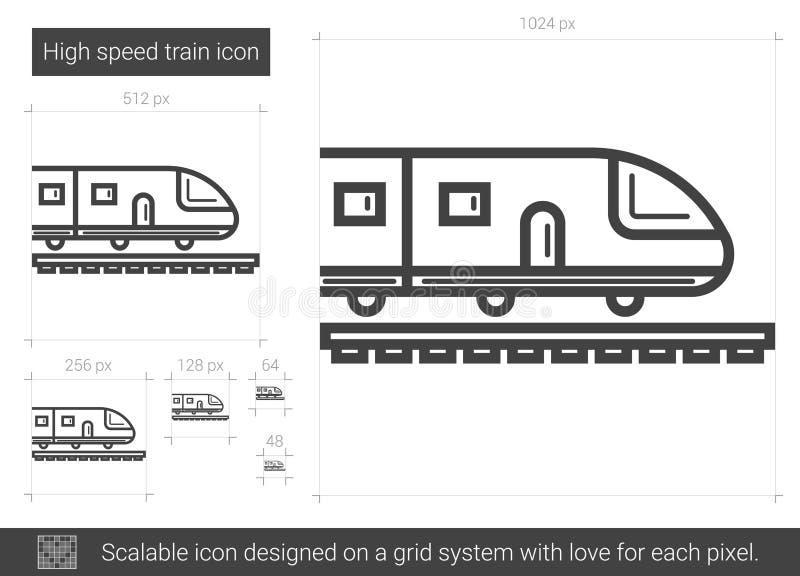 Linje symbol för snabbt drev vektor illustrationer