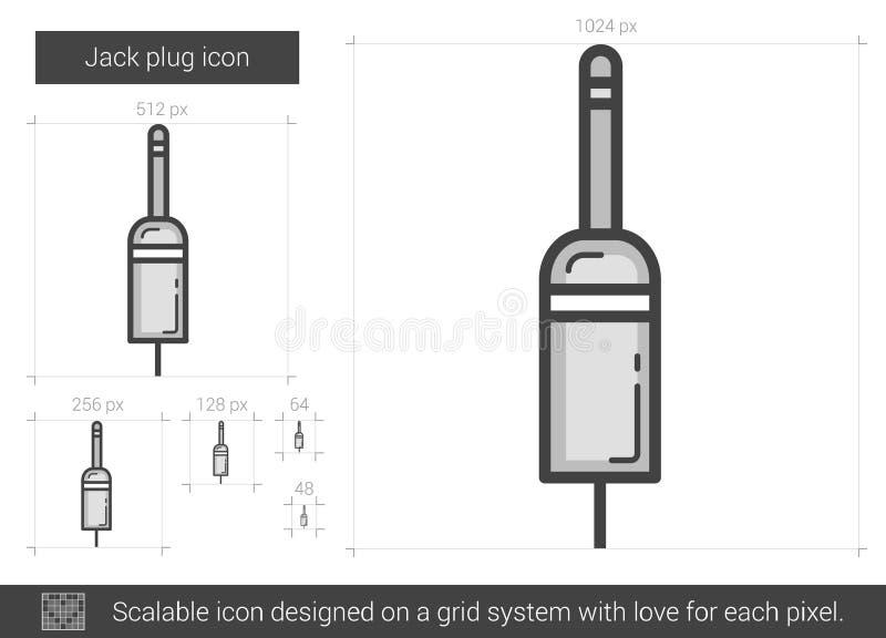 Linje symbol för stålarpropp stock illustrationer