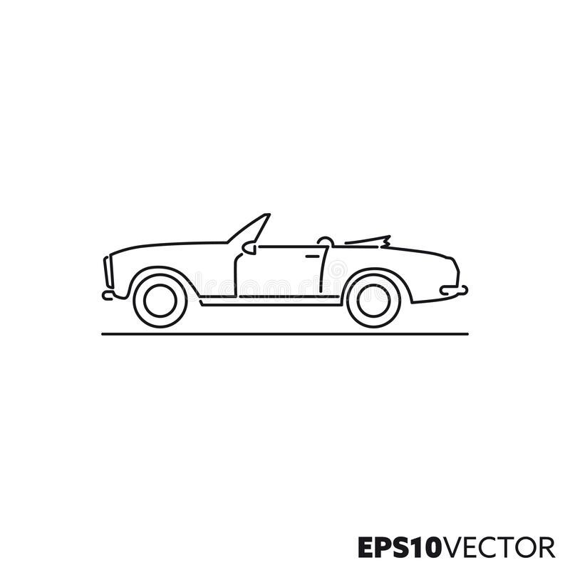 Linje symbol för tappningsportbilvektor royaltyfri illustrationer