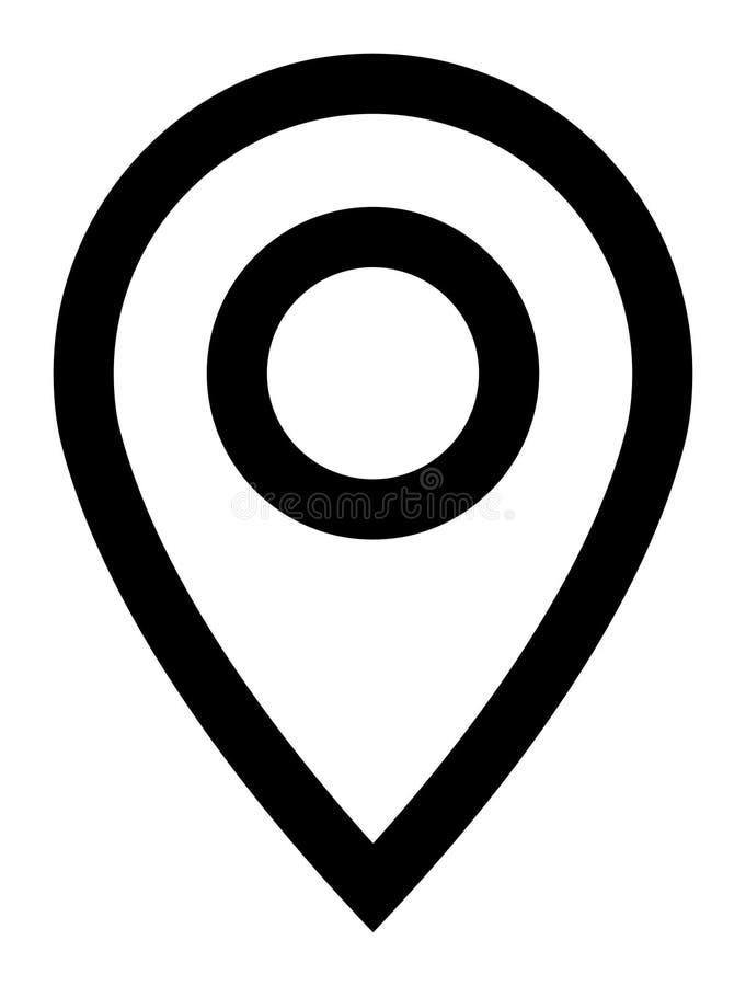 Linje symbol för vektorlägemarkör royaltyfri illustrationer