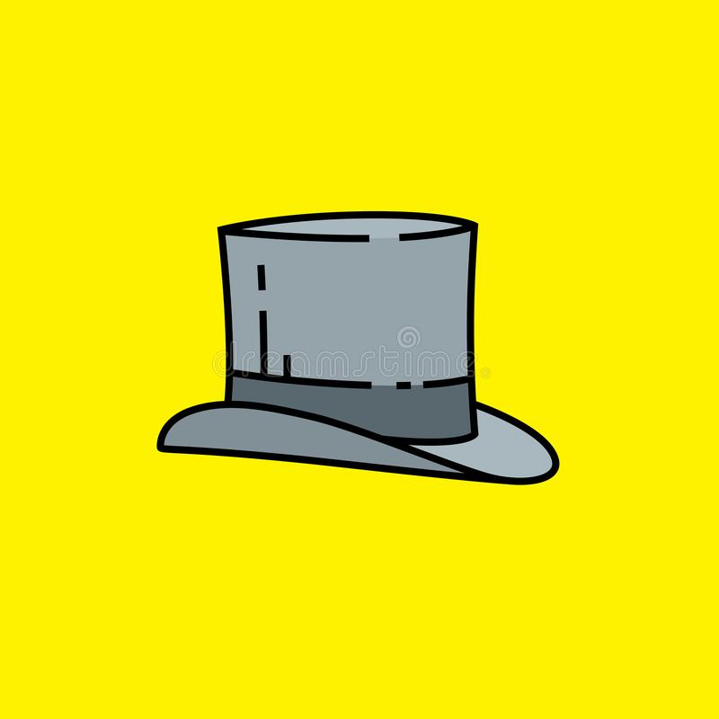 Linje symbol f?r b?sta hatt royaltyfri illustrationer