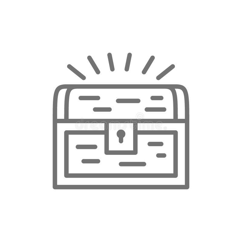 Linje symbol f?r skattbr?stkorg royaltyfri illustrationer