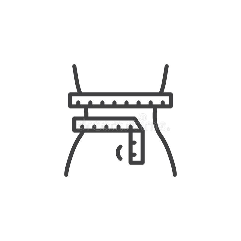linje symbol f?r viktf?rlust royaltyfri illustrationer
