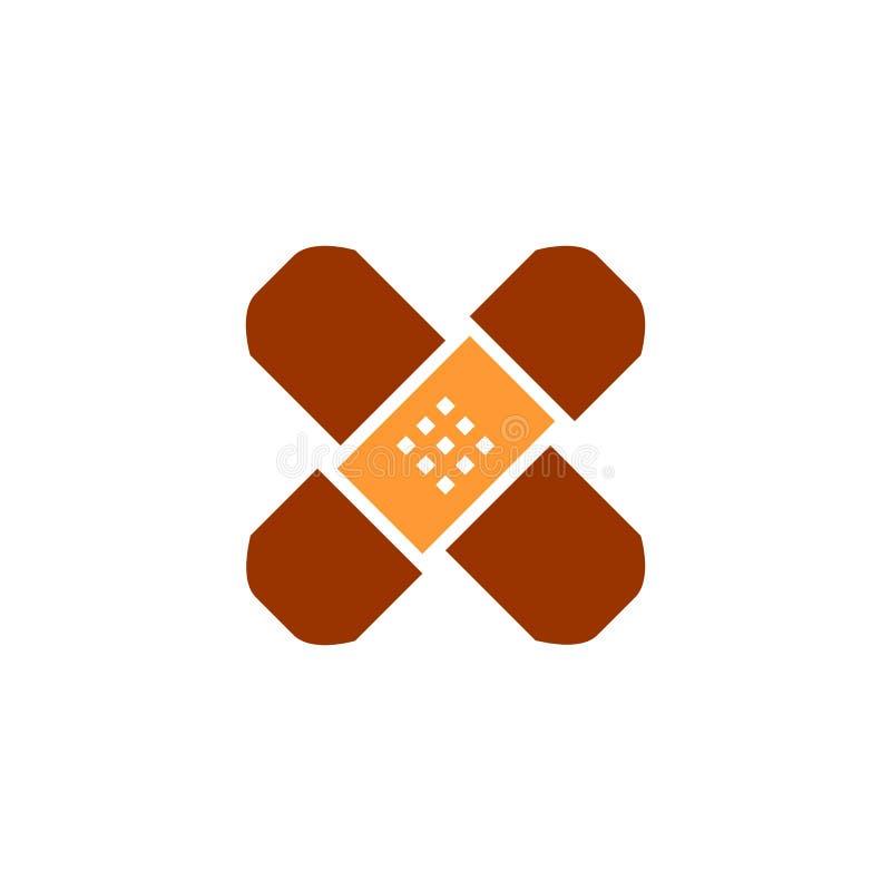 Linje symbol, fast vektorlogoillustration, plan pictogram som för självhäftande murbruk isoleras på vit stock illustrationer