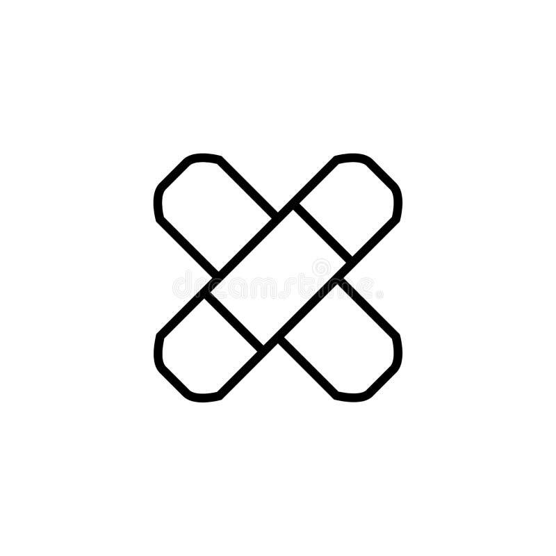 Linje symbol, illustration för översiktsvektorlogo, linjär pictogram för självhäftande murbruk på vit stock illustrationer