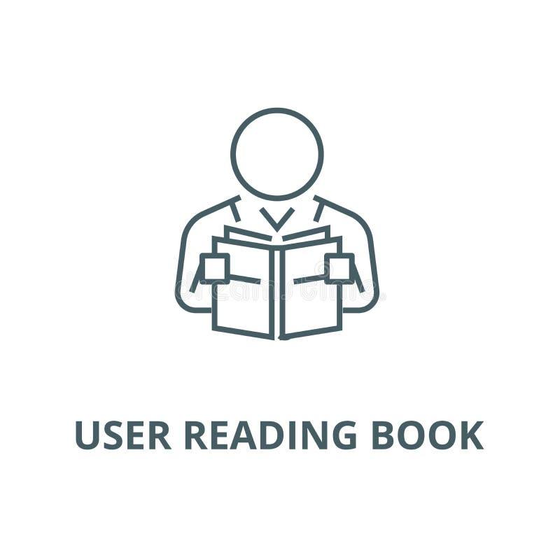 Linje symbol, linjärt begrepp, översiktstecken, symbol för användareläsebokvektor stock illustrationer