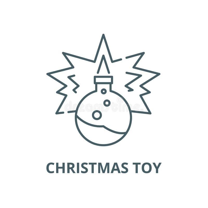 Linje symbol, linjärt begrepp, översiktstecken, symbol för julleksakvektor vektor illustrationer