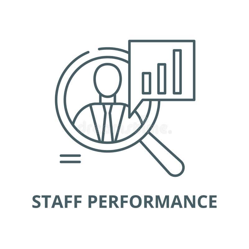 Linje symbol, linjärt begrepp, översiktstecken, symbol för personalkapacitetsvektor stock illustrationer