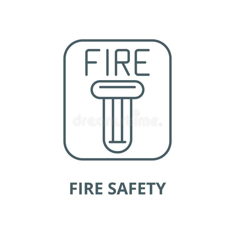 Linje symbol, linjärt begrepp, översiktstecken, symbol för vektor för brandsäkerhet royaltyfri illustrationer