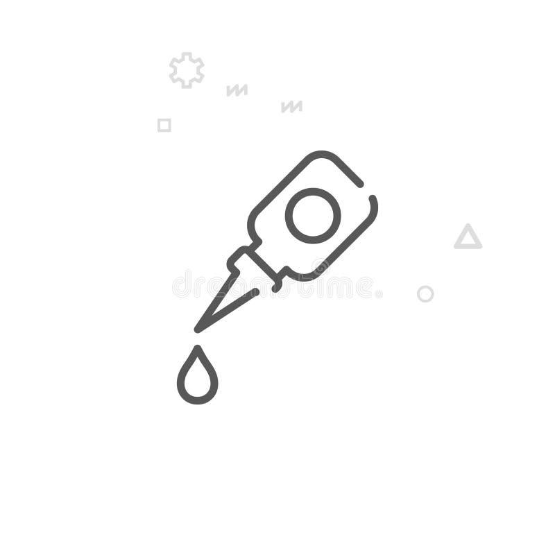 Linje symbol, symbol, Pictogram, tecken för cykelfettvektor Ljus abstrakt geometrisk bakgrund Redigerbar slaglängd vektor illustrationer