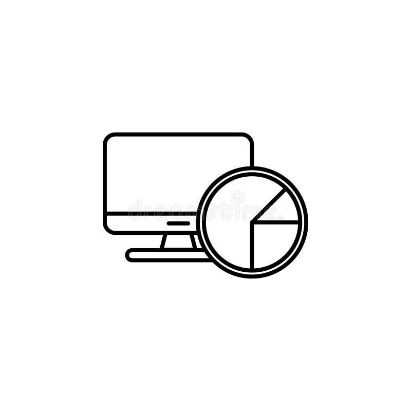 Linje symbol som för dataanalyticsvektor isoleras på vit bakgrund Dataanalytics fodrar symbolen för infographic, website eller ap royaltyfri illustrationer