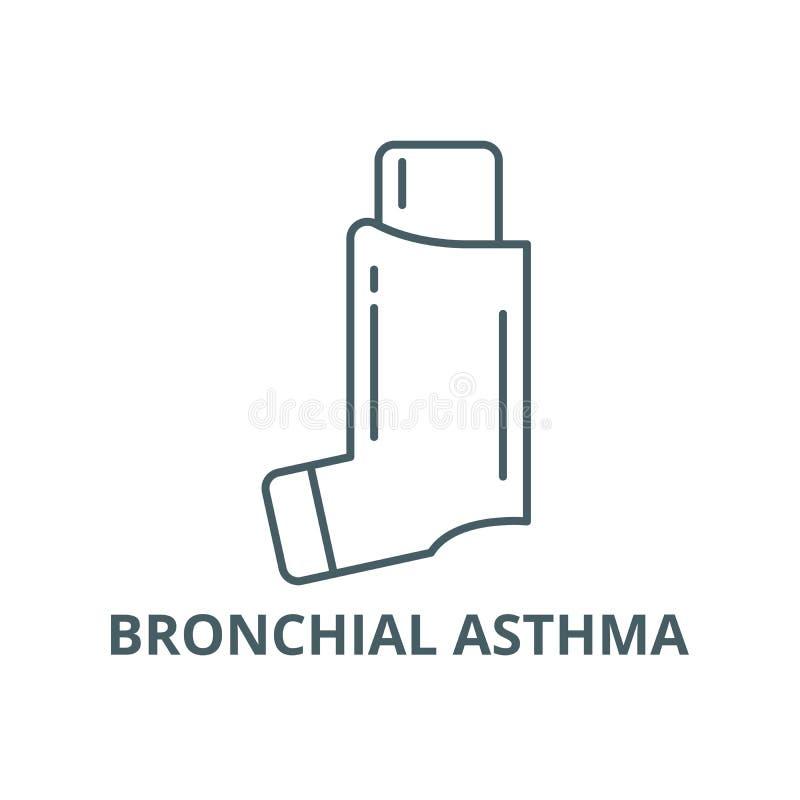 Linje symbol, vektor för bronkial astma Översiktstecken för bronkial astma, begreppssymbol, plan illustration royaltyfri illustrationer