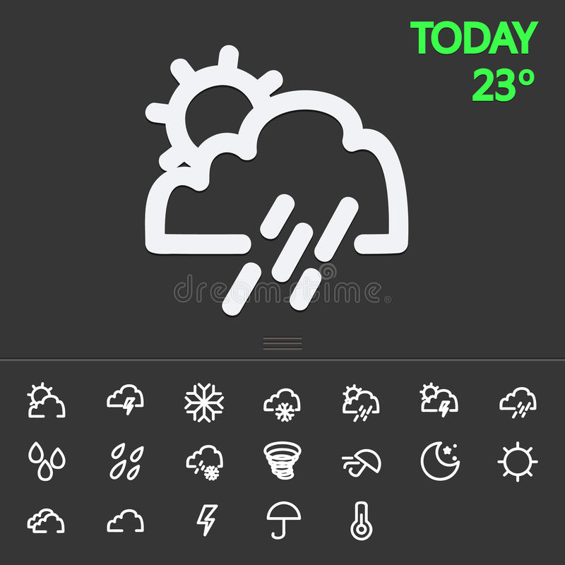 Linje symboler för applikationer och websites vektor illustrationer