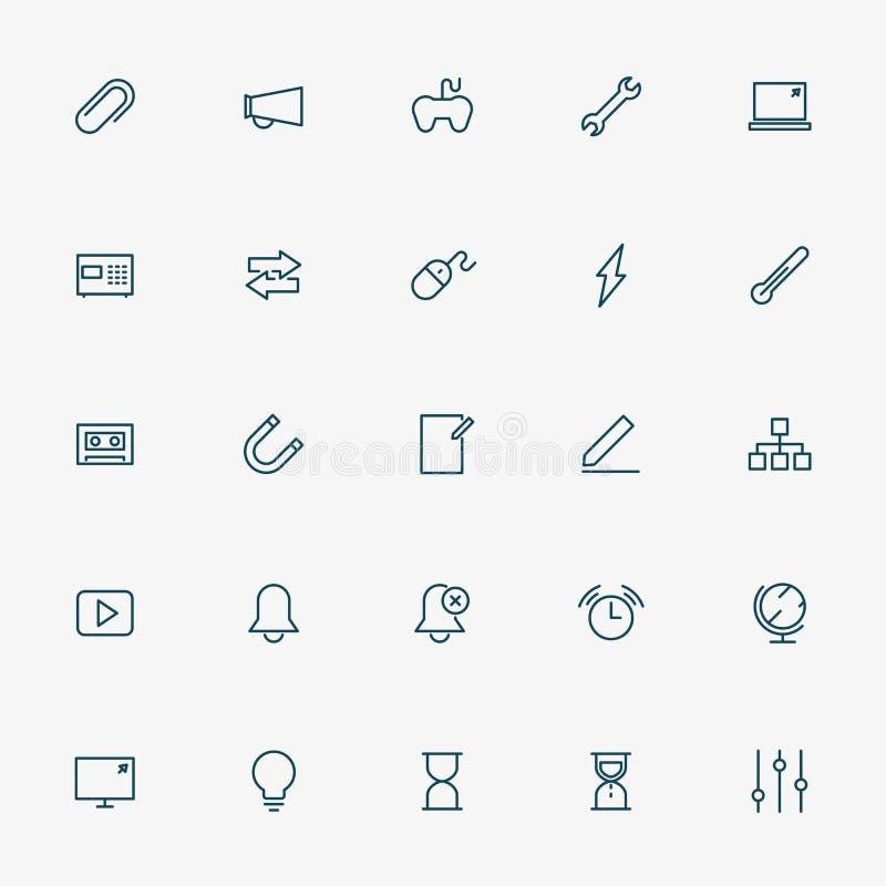 linje symboler för rengöringsduk 5x5 på vit bakgrund vektor illustrationer
