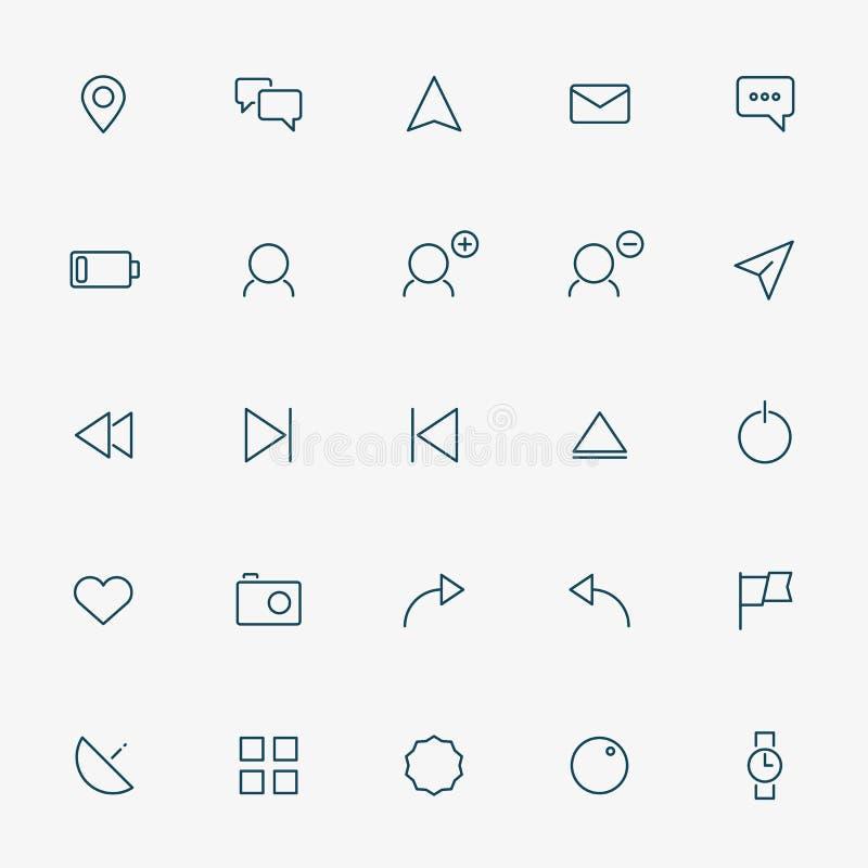 linje symboler för rengöringsduk 25 på vit bakgrund vektor illustrationer