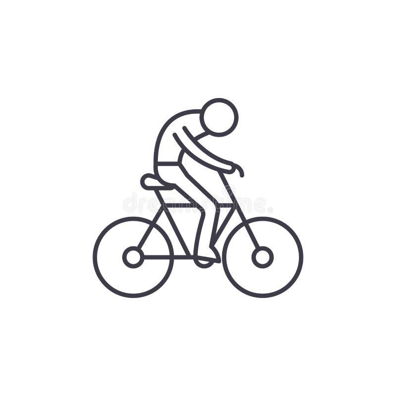 Linje symbolsbegrepp för cykellopp Illustration för vektor för cykellopp linjär, symbol, tecken stock illustrationer