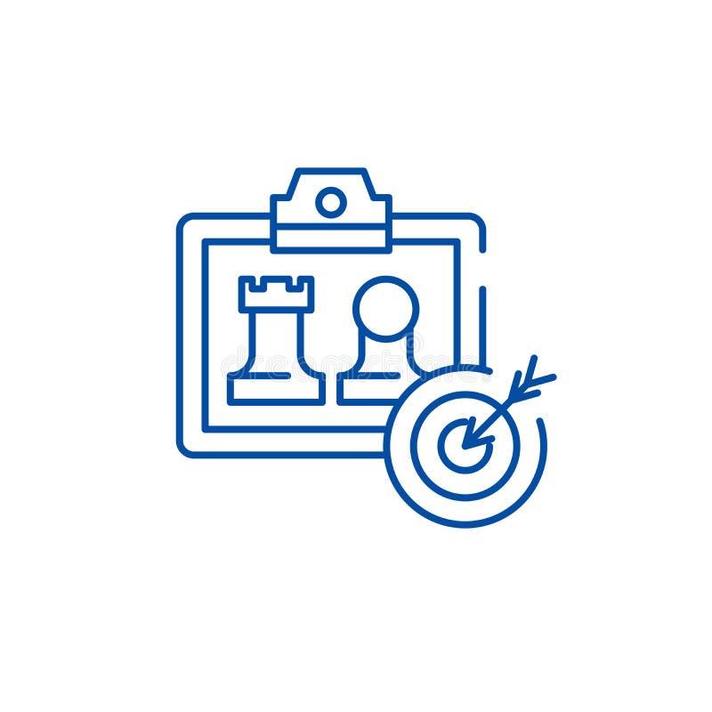 Linje symbolsbegrepp för utveckling för affärsmodell Symbol för vektor för utveckling för affärsmodell plant, tecken, översiktsil royaltyfri illustrationer