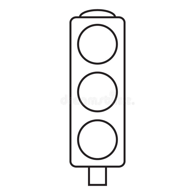 Linje symbolstrafikljus royaltyfri illustrationer