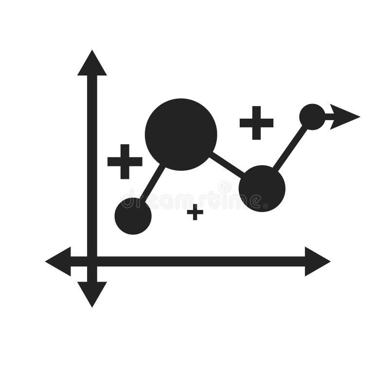 Linje tecken och symbol för diagramsymbolsvektor som isoleras på vit bakgrund, linje diagramlogobegrepp vektor illustrationer
