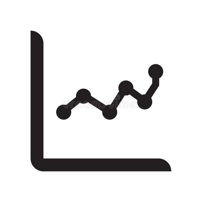 Linje tecken och symbol för vektor för symbol för prickdiagram som isoleras på vit bac royaltyfri illustrationer