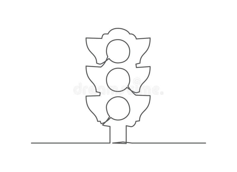 Linje teckning för trafikljus en stock illustrationer