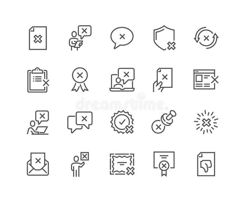 Linje utskottsvarasymboler stock illustrationer
