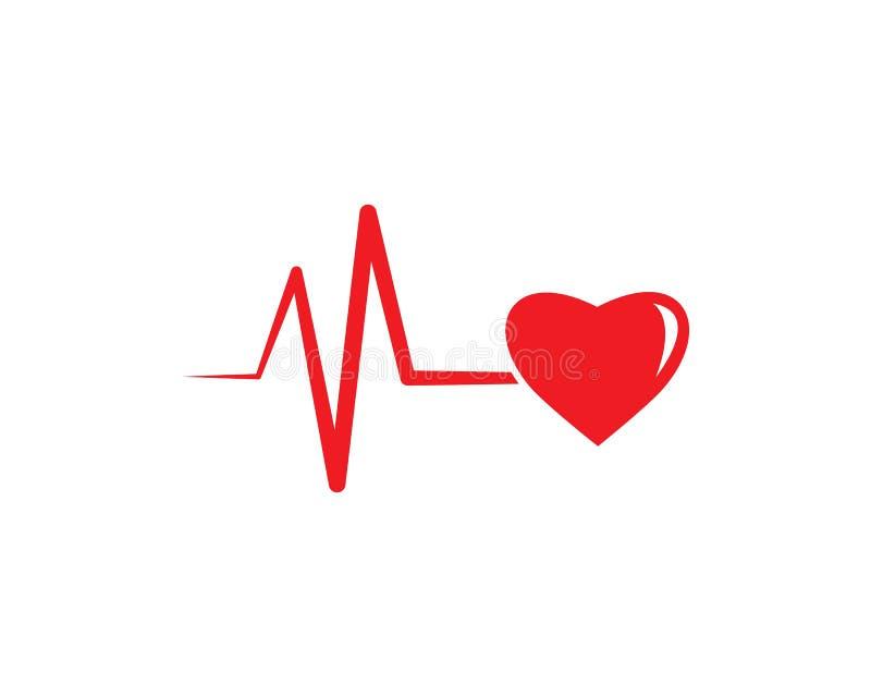 linje vektor för hjärtatakt royaltyfri illustrationer