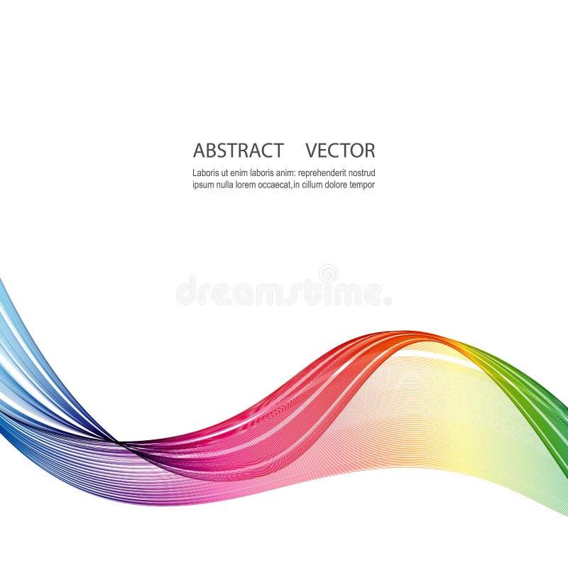 Linje vektorabstrakt begrepp för blandning för ljus för lutning för stora regnbågevågor färgrik vektor illustrationer