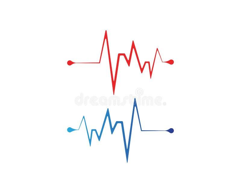 linje vektorer för hjärtatakt royaltyfri illustrationer