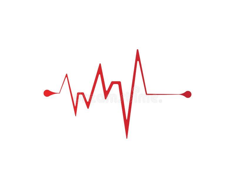 linje vektorer för hjärtatakt vektor illustrationer