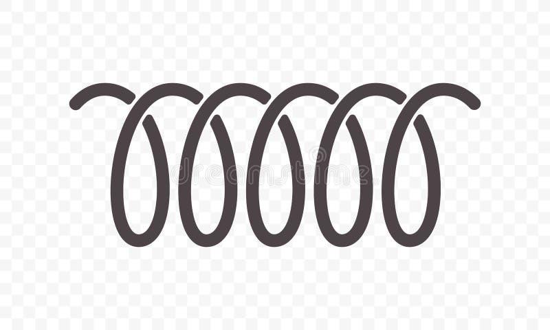 Linje vektorsymbol för spiralvår eller virvel stock illustrationer