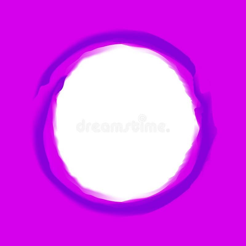 Linje violetta färger för cirkelslaglängdkonst på purpurfärgad bakgrund och vitt kopieringsutrymme, cirkellinje purpurfärgad stil royaltyfri illustrationer